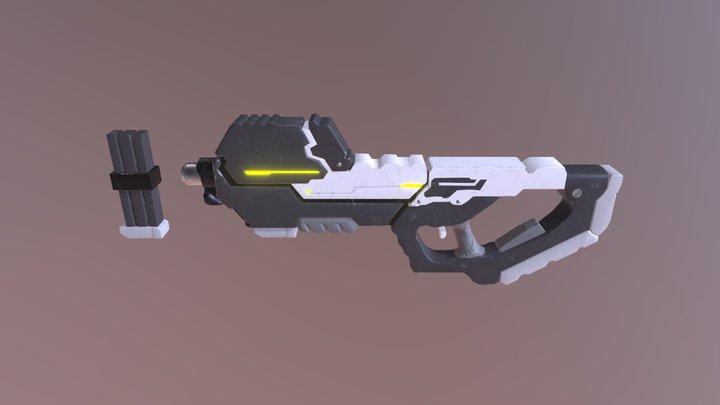 Textured Sci-Fi Gun 3D Model