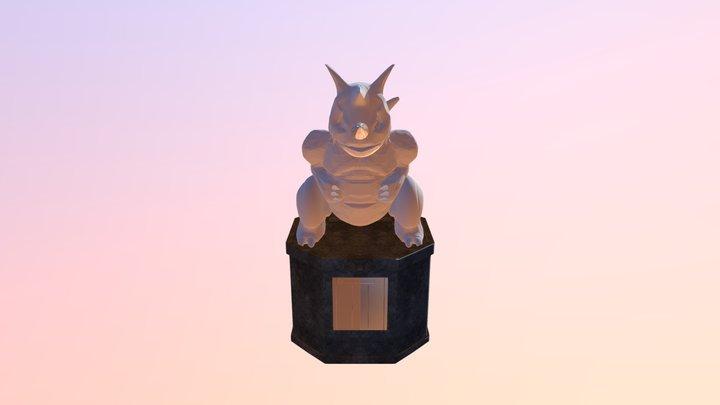 Pokemon Statue 3D Model