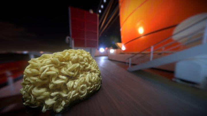 Instant Ramen Noodle 3D Model