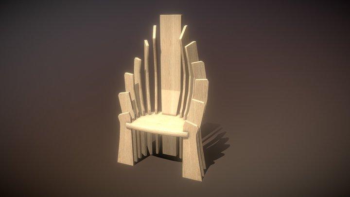 Wooden Throne 3D Model