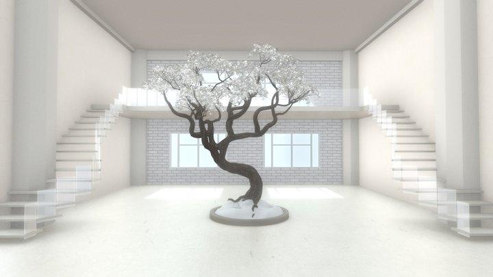 VR Staircase Art Gallery Nov. 2020 3D Model