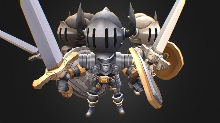 Hero Series - Knight 3D Model