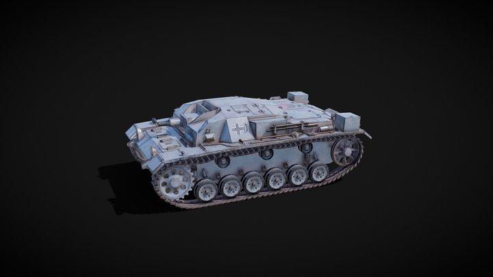 Sturmgeschütz III (StuG III; Штуг III) 3D Model