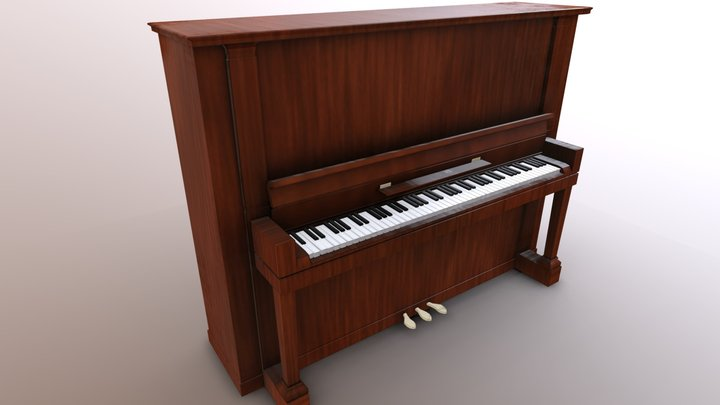 Upright Piano 3D Model