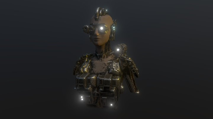 Female Cyborg #OculusKitbashChallenge 3D Model