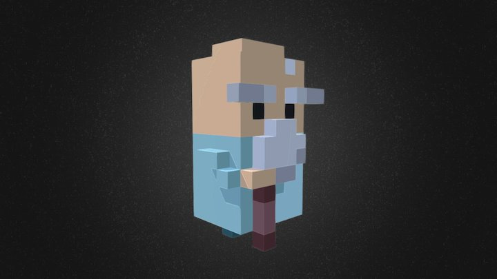 Old character 3d voxel style 3D Model
