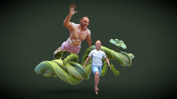 Jack and the Beanstalk 3D Model