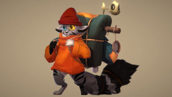 Pulguiinha and Miojo 3D Model
