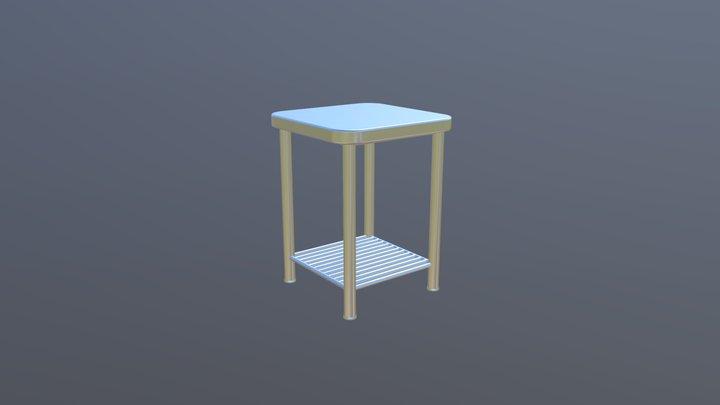 Aluminum End Table 3D Model