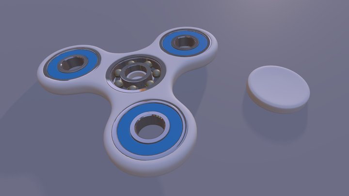 Hand Spinner 3D Model
