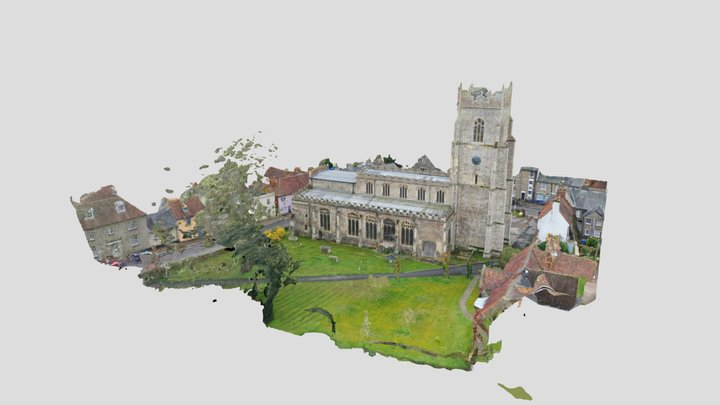 All Saints Church, Sudbury, Suffolk, UK 3D Model