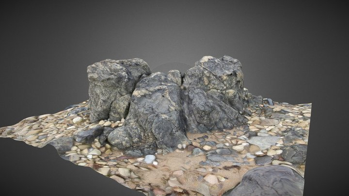 Rock and Pebbles 3D Model
