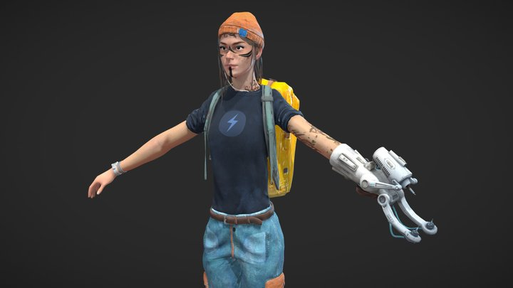 Gameready Character (Free download) 3D Model