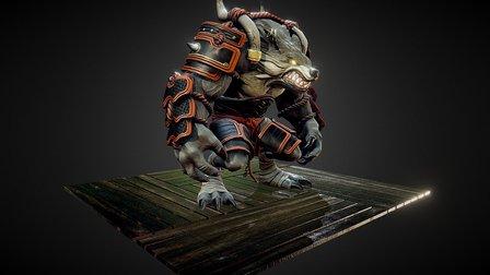 Wolf Guy 3D Model