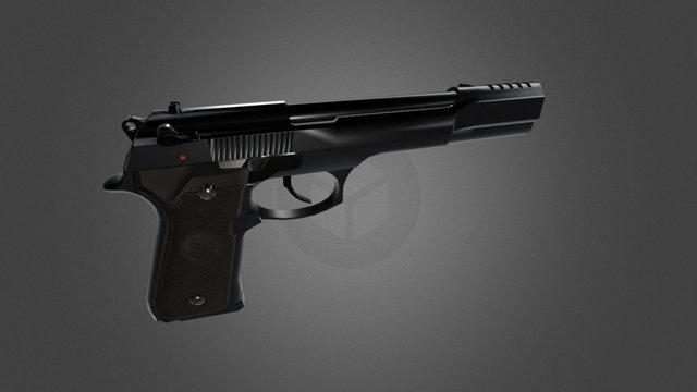 Beretta 92 FS Compensator 3D Model