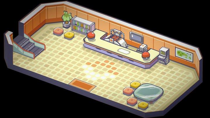 Pokemon RSE - Pokemon Center 3D Model