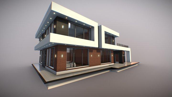 Modern residence - high tech 250m/quad 3D Model