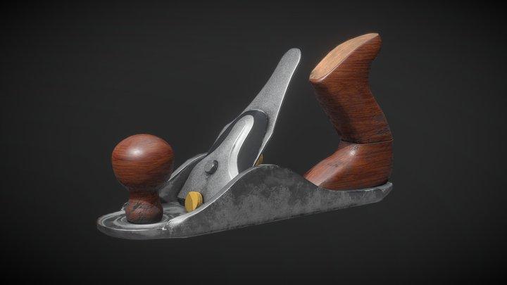 Antique Wood Scraper Tool 3D Model