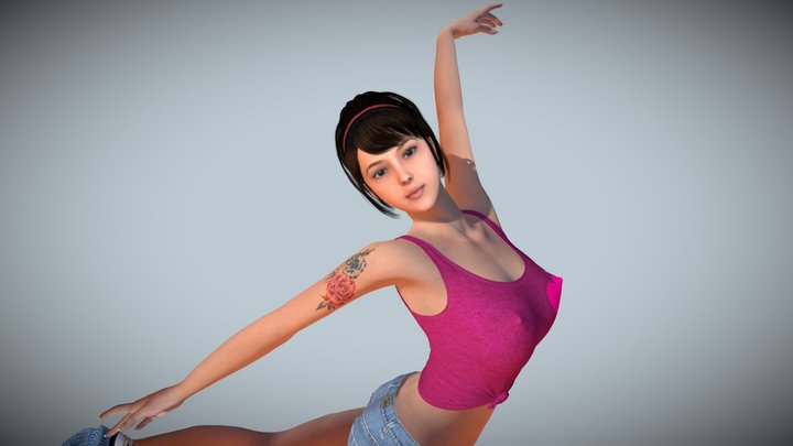 Hot Dance Pretty Girl 3D Model