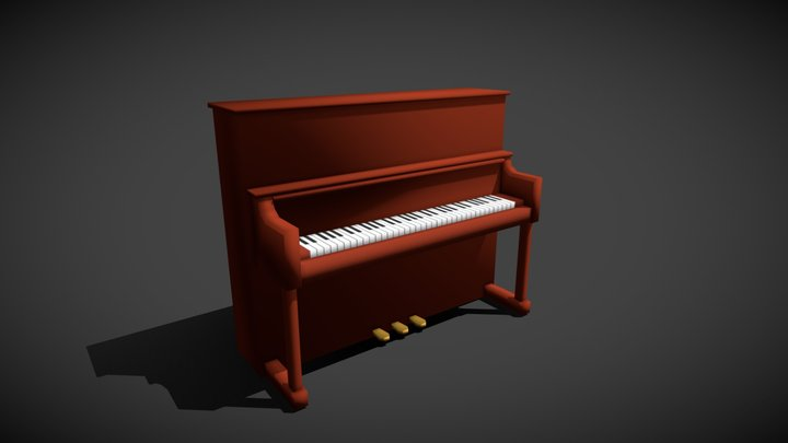 Piano low poly 3D Model