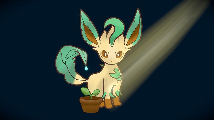 Pokemon Leafeon 3D Model
