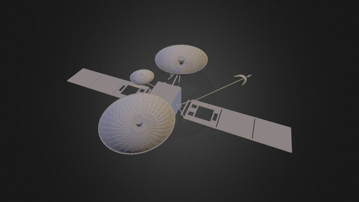 Tracking and Data Relay Satellite (3D printable) 3D Model