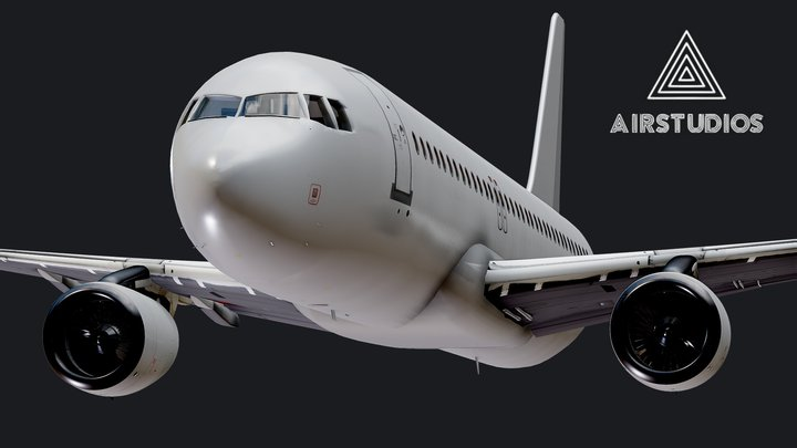 Airbus A320 Airplane (Highly Detailed) 3D Model