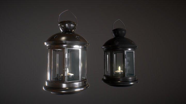 Lantern - Cylindrical 3D Model