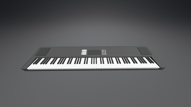 Musical Keyboard 3D Model