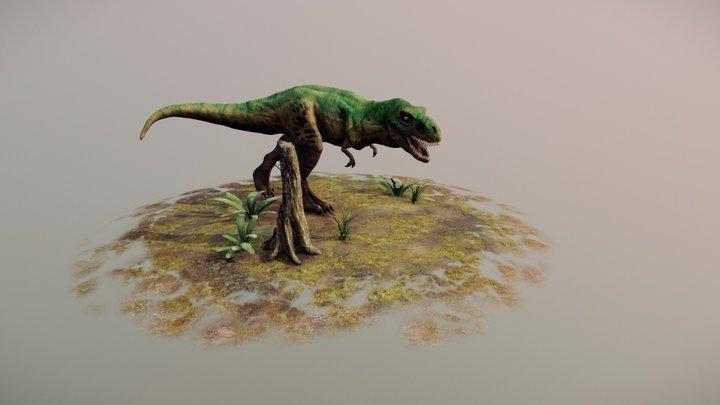 Green Rex 3D Model
