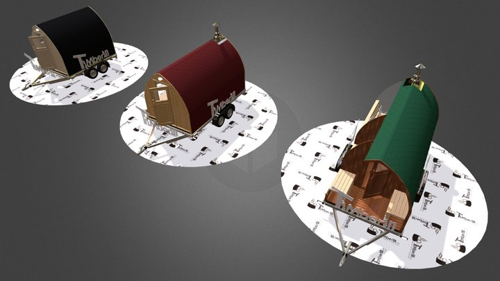 MOBILE OUTDOOR GARDEN SAUNA IGLOO 3D Model