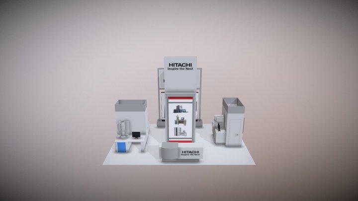 Hitachi 20x30 Concept modified placement 3D Model