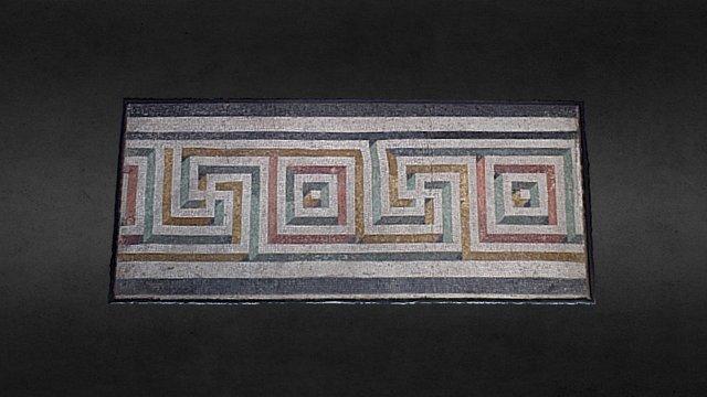 Pavimento a mosaico con svastiche e quadrati 3D Model