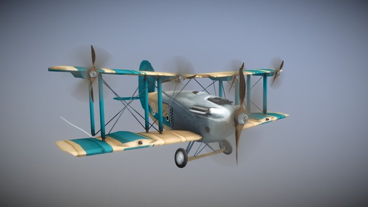 Stylized Airplane - Peace Dolphin 3D Model