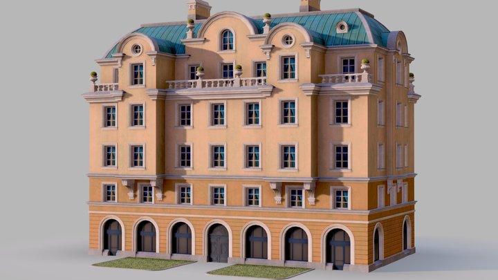 Neoclassic hotel 3D Model