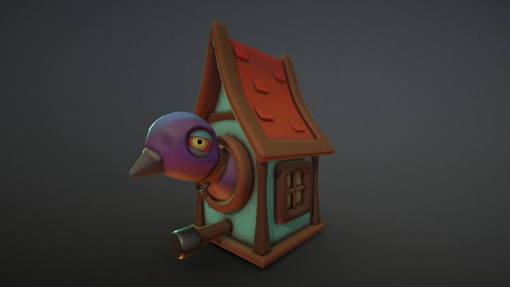 Stylized Birdhouse - 3 Hour Project 3D Model