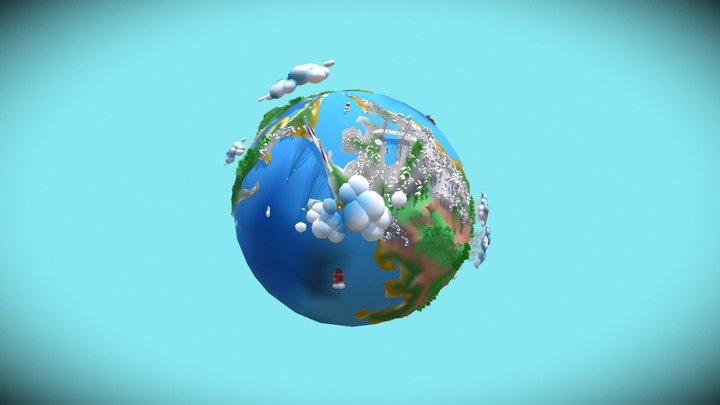 Vladivostok low planet 3D Model