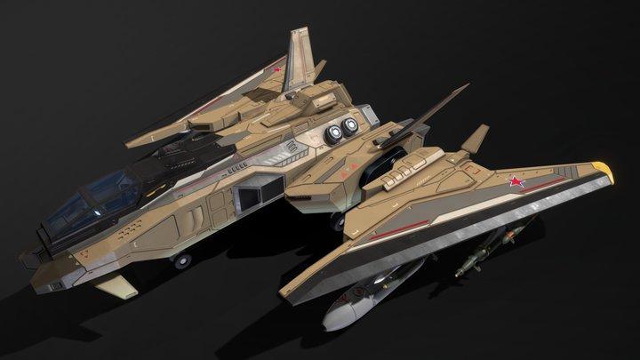 Scifi Fighter CCH65 3D Model