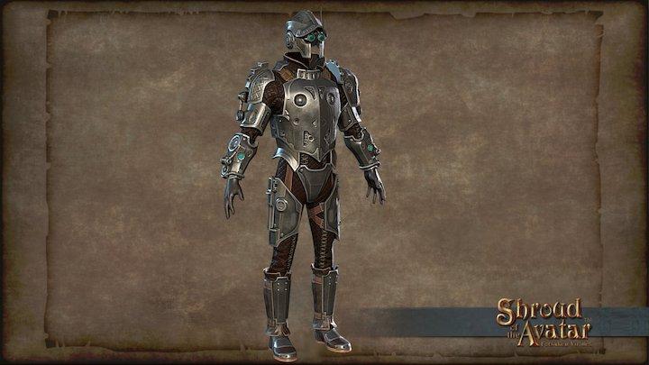 Clockwork Armor Silver 3D Model