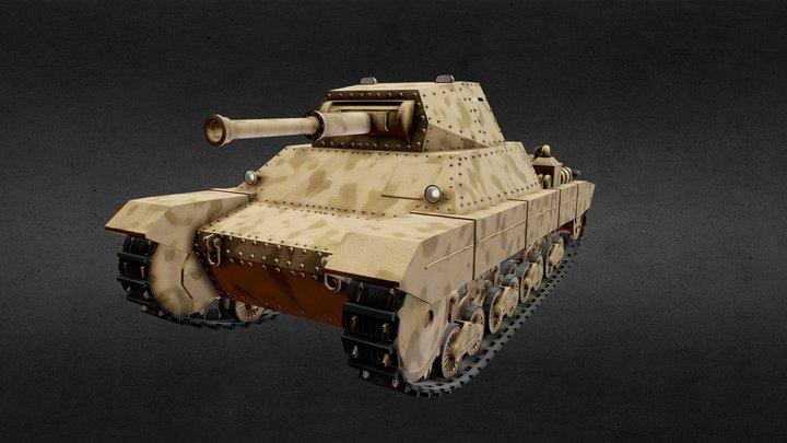 Carro Armato P40 3D Model