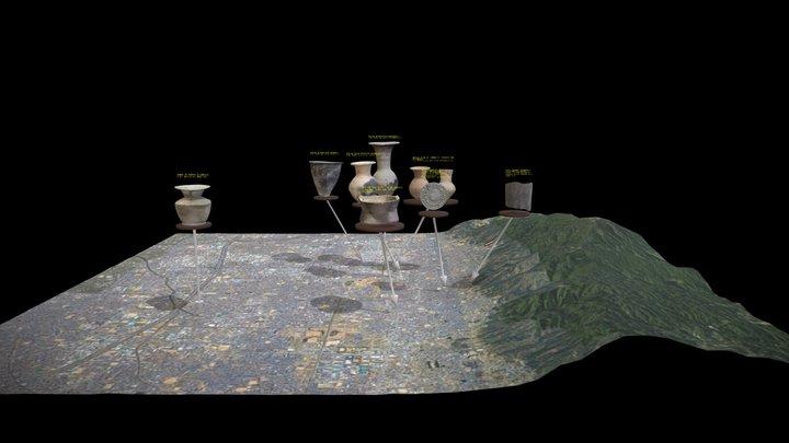 発掘調査でみつかった弥生土器や古代瓦のバーチャル展示 3D Model