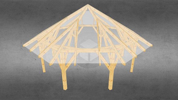 Altana osmiokątna 3D Model