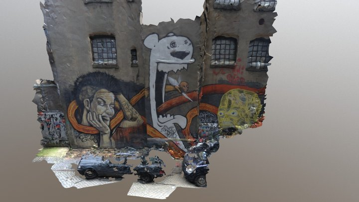 Hamburg Gängeviertel Graffiti 3D Model
