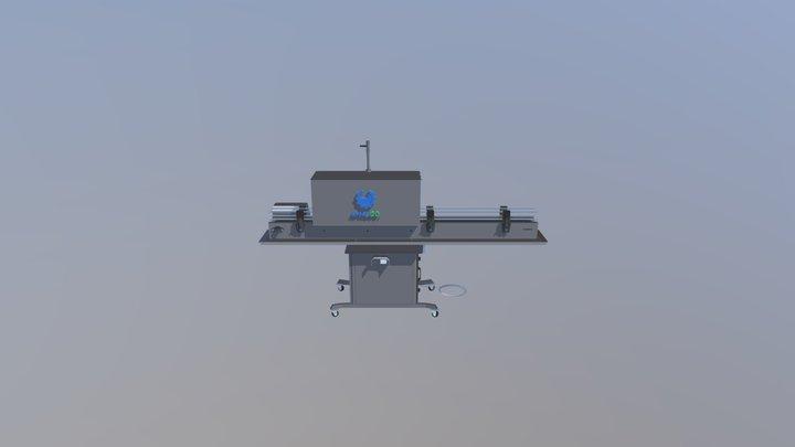 Steam shrink sleeve packaging machine 3D Model