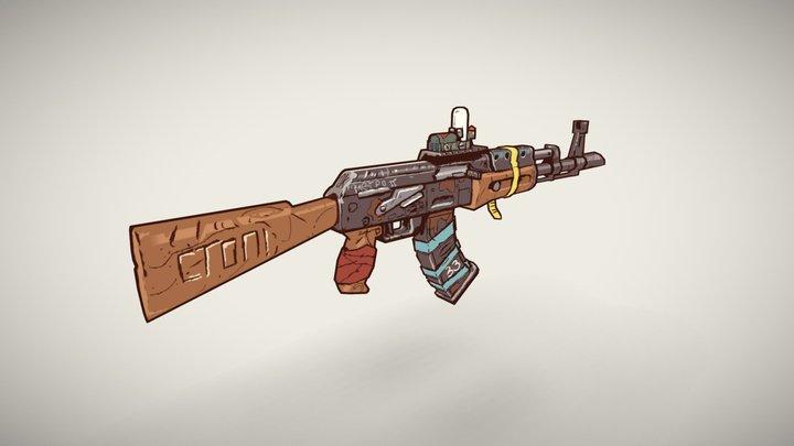 Stylized rifle 3D Model