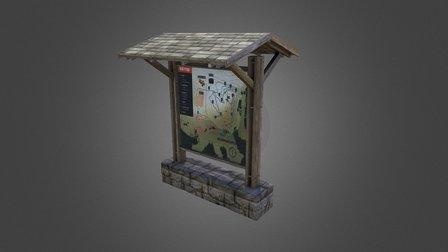Info Board 3D Model