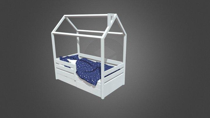 Детская кровать Избушка в магазине little home. 3D Model