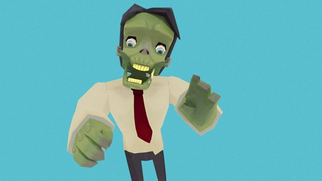 Zombie Business Man 3D Model