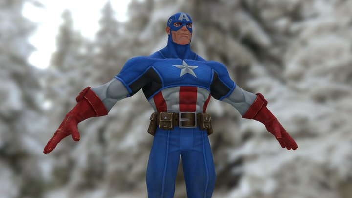 Captain America (Try) 3D Model