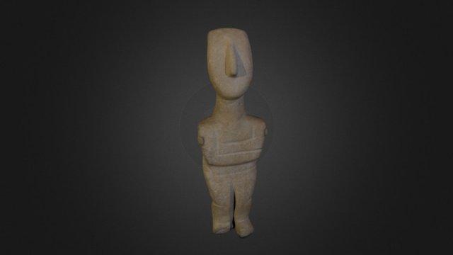 Cycladic Figure 3D Model